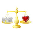 relationship or career scales vector image vector image