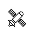 satellite icon vector image vector image