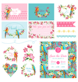 Scrapbook Design Elements Wedding Tropical Flowers