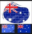 Scratched flag of Australia vector image vector image