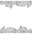 seamless decorative border of floral elements vector image vector image