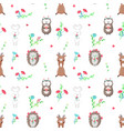 seamless pattern with cute animals in love vector image