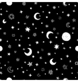 Seamless pattern with handdrawn stars and moons vector image vector image