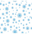 seamless snow pattern simple blue vector image vector image