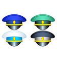 service cap set vector image vector image