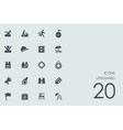 Set of lifeguard icons vector image