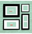 set of modern blank frames template vector image vector image