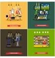 set of shop and supermarket design elements vector image vector image