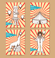 Sketch circus posters in vintage style vector image