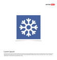 snow flake icon - blue photo frame vector image