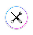 spanner and screwdriver tools icon isolated on vector image vector image