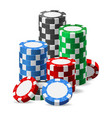 stack casino chips vector image