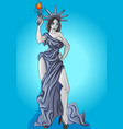 statue liberty new yock city united states vector image