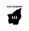 symbol of isle of san marino and map vector image vector image