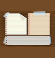 three line papers on wooden board vector image vector image