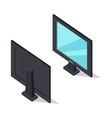 TV Set in Isometric Projection vector image vector image