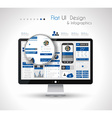 UI Flat Design Elements in a modern HD screen vector image vector image