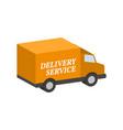 van commercial vehicle delivery service symbol vector image
