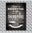 vintage typographic food quote for the menu or t vector image vector image