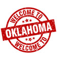 welcome to oklahoma red stamp vector image vector image