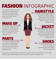 woman in purple skirt fashion infographic vector image vector image