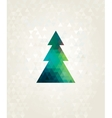 christmas tree with colorful triangle diamonds vector image