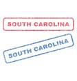 south carolina textile stamps vector image