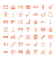 49 wood icons vector image vector image