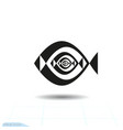 abstract fish icon inverse recursion vector image