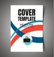 abstract report cover11 vector image vector image