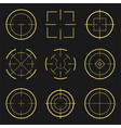 aim frames collection target set vector image