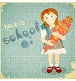 Back to School Vintage Card vector image vector image