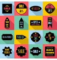 Black Friday Sales signs icons set flat style vector image vector image