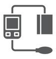 blood sphygmomanometer glyph icon medical vector image