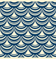 blue and white pattern with garlands of lambrequin vector image vector image