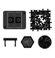 board game black icons in set collection for vector image vector image