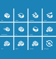 Box icons on blue background vector image vector image