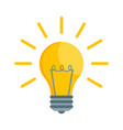 bulb light icon isolated on wh vector image