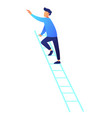 businessman climbing up the ladder vector image vector image