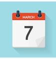 Calendar Flat Daily Icon vector image vector image