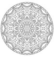 circular pattern in the form of the mandala vector image vector image