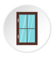 closed brown window icon circle vector image vector image