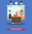 coffee house concept in flat vector image vector image
