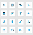 construction colorful icons set collection of vector image vector image