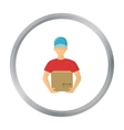 Courier icon of for web and vector image