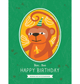 Cute Monkey Animal Cartoon Birthday card design vector image vector image