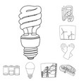 design of electricity and electric icon vector image vector image