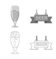 design of pub and bar logo collection of vector image vector image