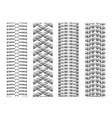 dotted tire track set 4 vector image vector image