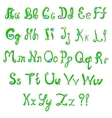 English hand-written alphabet in spring style vector image